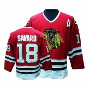 CCM Chicago Blackhawks 18 Denis Savard Premier Red Throwback Man NHL Jersey