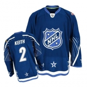 Reebok Chicago Blackhawks 2 Duncan Keith 2011 All Star Authentic Dark Blue NHL Jersey