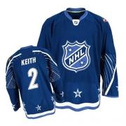 Reebok Chicago Blackhawks 2 Duncan Keith 2011 All Star Premier Dark Blue NHL Jersey