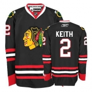 Youth Reebok Chicago Blackhawks 2 Duncan Keith Authentic Black NHL Jersey