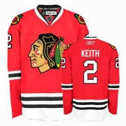 Youth Reebok Chicago Blackhawks 2 Duncan Keith Authentic Red Home NHL Jersey