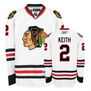 Youth Reebok Chicago Blackhawks 2 Duncan Keith Authentic White NHL Jersey