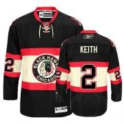 Youth Reebok Chicago Blackhawks 2 Duncan Keith Premier Black New Third NHL Jersey