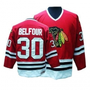 CCM Chicago Blackhawks 30 ED Belfour Authentic Red Throwback Man NHL Jersey