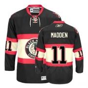Reebok Chicago Blackhawks 11 John Madden Premier Black New Third Man NHL Jersey