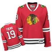 Reebok Chicago Blackhawks 19 Jonathan Toews Red Women Home Authentic NHL Jersey
