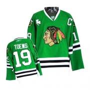 Youth Reebok Chicago Blackhawks 19 Jonathan Toews Premier Green NHL Jersey