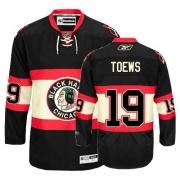 Youth Reebok Chicago Blackhawks 19 Jonathan Toews Authentic Black New Third NHL Jersey