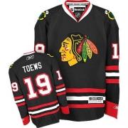 Youth Reebok Chicago Blackhawks 19 Jonathan Toews Authentic Black NHL Jersey