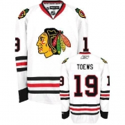 Youth Reebok Chicago Blackhawks 19 Jonathan Toews Authentic White NHL Jersey