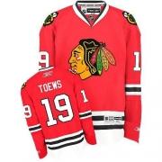 Youth Reebok Chicago Blackhawks 19 Jonathan Toews Premier Red Home NHL Jersey