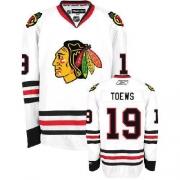 Youth Reebok Chicago Blackhawks 19 Jonathan Toews Premier White NHL Jersey