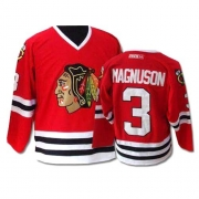 CCM Chicago Blackhawks 3 Keith Magnuson Authentic Red Throwback Man NHL Jersey