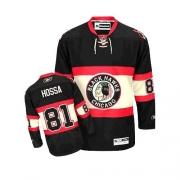 Reebok Chicago Blackhawks 81 Marian Hossa Authentic Black New Third Man NHL Jersey
