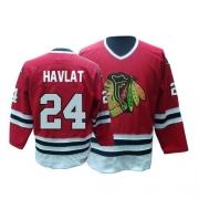 CCM Chicago Blackhawks 24 Martin Havlat Red Throwback Authentic NHL Jersey