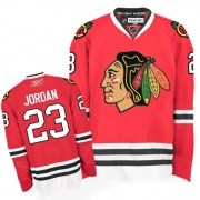 Reebok Chicago Blackhawks 23 Michael Jordan Authentic Red Man NHL Jersey