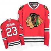 Reebok Chicago Blackhawks 23 Michael Jordan Premier Red Man NHL Jersey