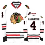 Reebok Chicago Blackhawks 4 Niklas Hjalmarsson Authentic White Man NHL Jersey
