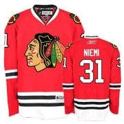 Youth Reebok Chicago Blackhawks 31 Antti Niemi Authentic Red Home NHL Jersey