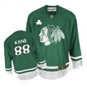 Youth Reebok Chicago Blackhawks 88 Patrick Kane Authentic Green St Patty's Day NHL Jersey