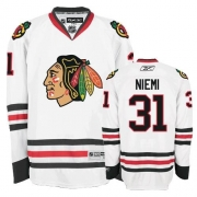 Youth Reebok Chicago Blackhawks 31 Antti Niemi Authentic White NHL Jersey