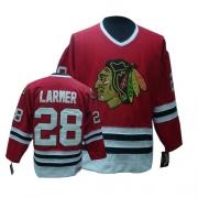 CCM Chicago Blackhawks 28 Steve Larmer Authentic Red Throwback Man NHL Jersey