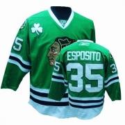Reebok Chicago Blackhawks 35 Tony Esposito Authentic Green Man NHL Jersey