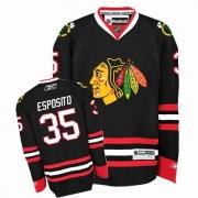 Reebok Chicago Blackhawks 35 Tony Esposito Authentic Black Man NHL Jersey