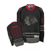 Reebok Chicago Blackhawks 81 Marian Hossa Black Ice Authentic NHL Jersey