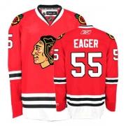 Reebok Chicago Blackhawks 55 Ben Eager Premier Red Home Man NHL Jersey