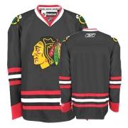 Reebok Chicago Blackhawks Authentic Blank Black Man NHL Jersey