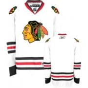 Reebok Chicago Blackhawks Authentic Blank White Man NHL Jersey