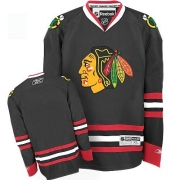 Youth Reebok Chicago Blackhawks Premier Blank Black NHL Jersey