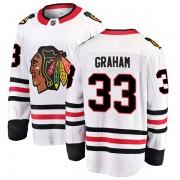 Fanatics Branded Chicago Blackhawks 33 Dirk Graham White Breakaway Away Men's NHL Jersey