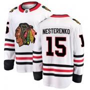 Fanatics Branded Chicago Blackhawks 15 Eric Nesterenko White Breakaway Away Men's NHL Jersey