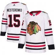 Adidas Chicago Blackhawks 15 Eric Nesterenko Authentic White Away Youth NHL Jersey