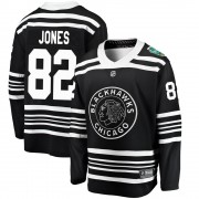 Fanatics Branded Chicago Blackhawks 82 Caleb Jones Black 2019 Winter Classic Breakaway Men's NHL Jersey