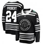 Fanatics Branded Chicago Blackhawks 24 Bob Probert Black 2019 Winter Classic Breakaway Men's NHL Jersey