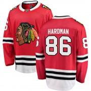 Fanatics Branded Chicago Blackhawks 86 Mike Hardman Red Breakaway Home Youth NHL Jersey