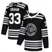 Adidas Chicago Blackhawks 33 Dirk Graham Authentic Black 2019 Winter Classic Men's NHL Jersey