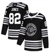 Adidas Chicago Blackhawks 82 Caleb Jones Authentic Black 2019 Winter Classic Men's NHL Jersey