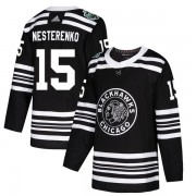 Adidas Chicago Blackhawks 15 Eric Nesterenko Authentic Black 2019 Winter Classic Men's NHL Jersey