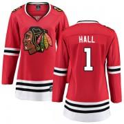 Fanatics Branded Chicago Blackhawks 1 Glenn Hall Red Home Breakaway Women's NHL Jersey
