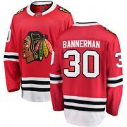 Fanatics Branded Chicago Blackhawks 30 Murray Bannerman Red Breakaway Home Men's NHL Jersey