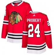 Adidas Chicago Blackhawks 24 Bob Probert Authentic Red Home Men's NHL Jersey