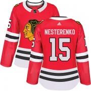 Adidas Chicago Blackhawks 15 Eric Nesterenko Authentic Red Home Women's NHL Jersey