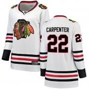 Fanatics Branded Chicago Blackhawks 22 Ryan Carpenter White Breakaway Away Women's NHL Jersey