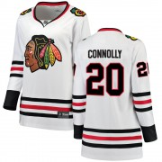 Fanatics Branded Chicago Blackhawks 20 Brett Connolly White Breakaway Away Women's NHL Jersey