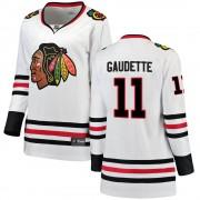 Fanatics Branded Chicago Blackhawks 11 Adam Gaudette White Breakaway Away Women's NHL Jersey