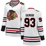 Fanatics Branded Chicago Blackhawks 93 Doug Gilmour White Breakaway Away Women's NHL Jersey